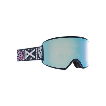 Anon 2021 Women's WM3 Goggles with Spare Lens and MFI Facemask - Noom/Prcv Vrbl Blue