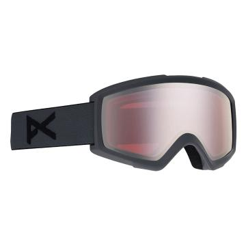 Anon Men's Helix 2 Sonar Goggles with Spare Lens - Stealth/Sonarsilver - Stealth/Sonarsilver