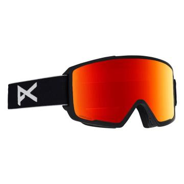 Anon Men's M3 Snow Goggles With Spare Lens - Black/Sonarred