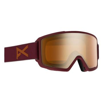 Anon Men's M3 Snow Goggles With Spare Lens - Maroon/Sonarbronze