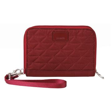 Pacsafe RFIDsafe W150 Travel Wallet - Cranberry