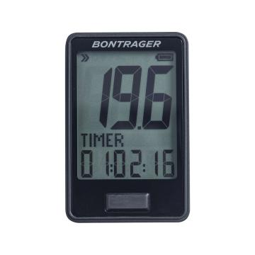Bontrager RIDEtime Wireless Bike Computer - Black - Black
