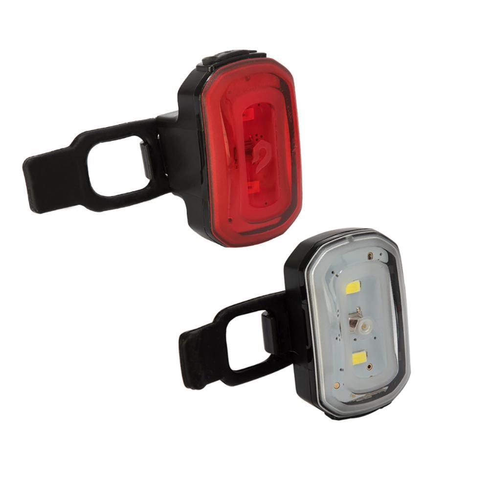 USB Click Front & Rear Bike Light Combo