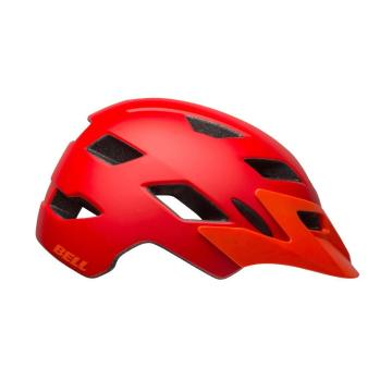 Bell Sidetrack Kids Helmet - Matte Red/Orange