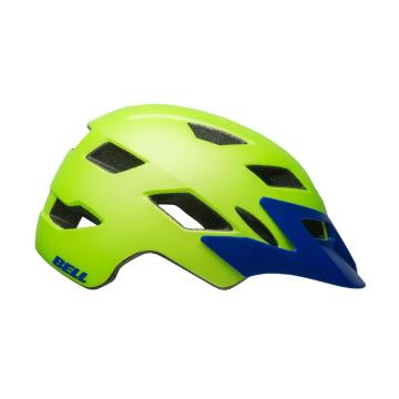 Bell Sidetrack Kids Helmet - Matte Green/Blue