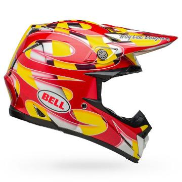 Bell Moto-9 MIPS McGrath Replica - Red/Yellow/Chrome