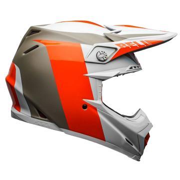 Bell Moto-9 Flex Division Helmet - White/Orange/Sand - White/Orange/Sand
