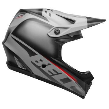 Bell Youth Moto-9 Mips Glory Helmet - MatBlk/Gry/Crim - Matte Black/Gray/Crimson