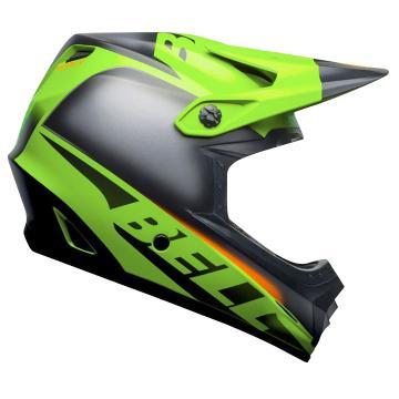 Bell Youth Moto-9 Mips Glory Helmet - MatGrn/Blk/Infrd