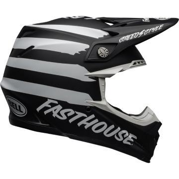 Bell Moto-9 Mips Fasthouse Signia Helmet - Black/White