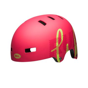 Bell 2018 Span Youth Helmet - Matte Flamingo/Pear Wild