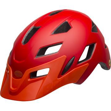 Bell 2019 Sidetrack Kids Helmet - Matte Red/Orange