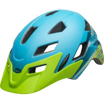 Bell Sidetrack Kids Helmet - Matte Blue/Green
