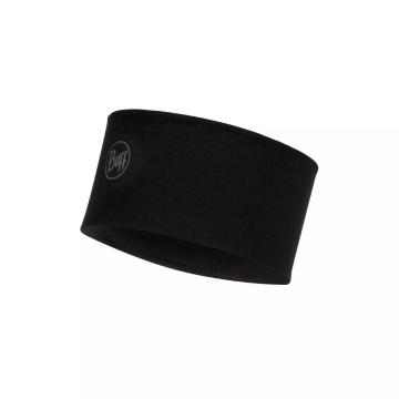 Buff Buff Midweight Wool Headband - Solid Black