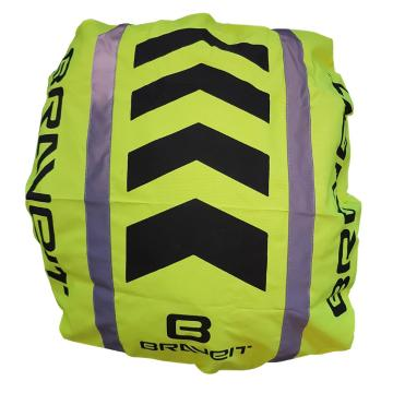 Braveit Backpack Cover -  Hi-Vis Fluro/Reflective/Black