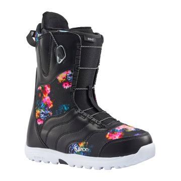 Burton 2018 Women's Mint Snowboard Boots - Black/Multi