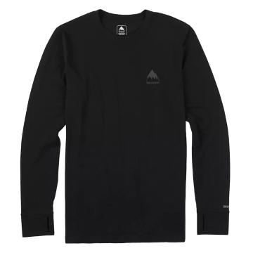 Burton 2018 Men's Midweight Long Sleeve Crew Tee - True Black