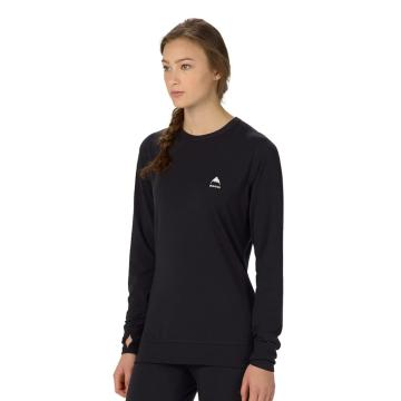 Burton 2018 Women's Midweight Long Sleeve Crew Tee - True Black