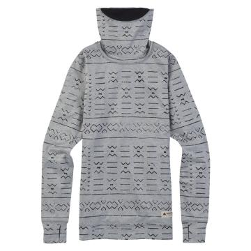Burton   Wmns MW Long Neck Layer - Grayscl Bogolanfini