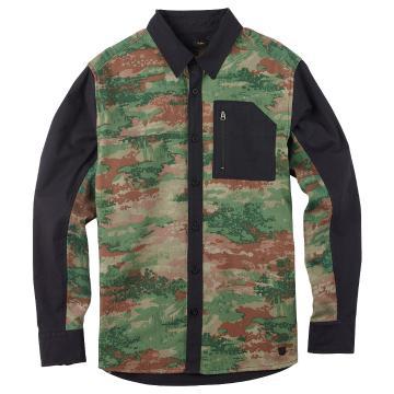 Burton Men's Tabon Tech Flannel Long Sleeve Button Up Shirt