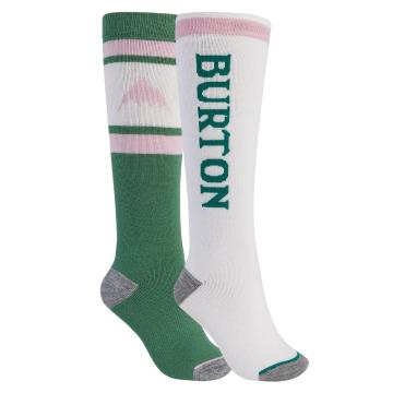 Burton 2021 Woman's Weekend Midweight Sock 2-Pack - Frosty Spruce/Stout White
