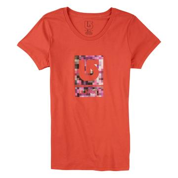 Burton Women's Logo Vertical Fill Short Sleeve Tee