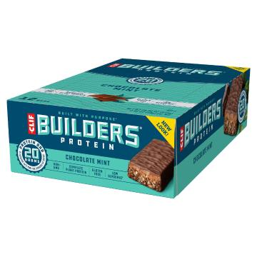 Energy Clif Builders Protein Bar Box of 12 - Chocolate Mint - Chocolate Mint