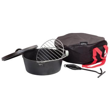 Charmate 4.5 Quart(4.5L) Round Cast Iron Camp Oven Kit