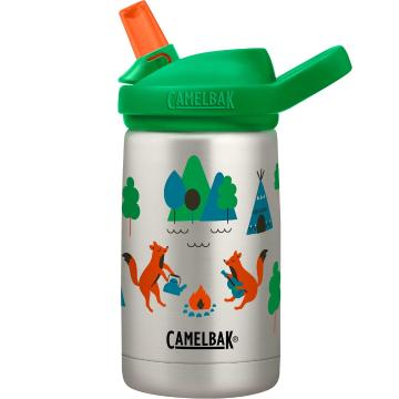 Camelbak eddy+ Kids Vacuum Insulated 12oz Bottle - Camping Foxes
