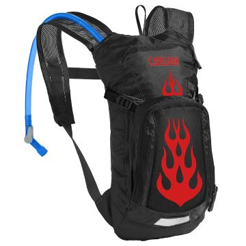 Camelbak Mini M.U.L.E. Hydration Pack with 1.5L Crux Reservoir - Black Flames
