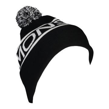 Mons Royale Pom-Pom Beanie - Black/White