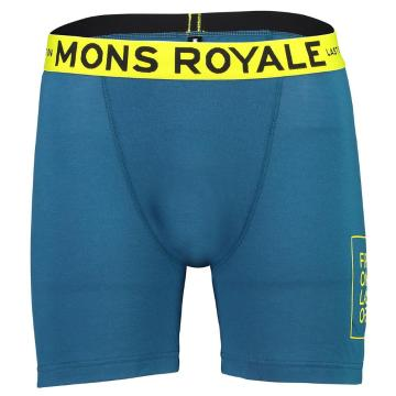Mons Royale Mens Hold 'em Boxer - Oily Blue