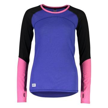 Mons Royale Women's Bella Tech Long Sleeve - Ultra Blue/Black