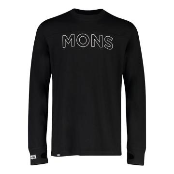 Mons Royale Men's Yotei Tech Long Sleeve - Black