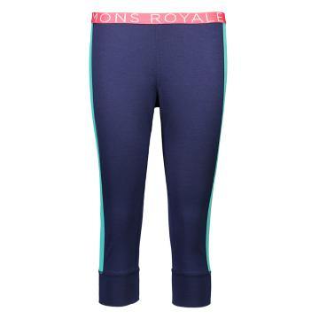 Mons Royale Women's Alagna 3/4 Leggings - Navy/Mint