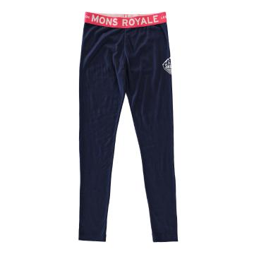 Mons Royale Girl's Merino Groms Leggings - Navy