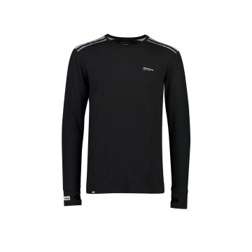 Mons Royale Men's Alta Tech Long Sleeve Crew Base Layer - Black/Grey Marl