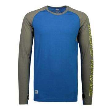 Mons Royale Men's Temple Tech Long Sleeve Base Layer - Oily Blue/Olive