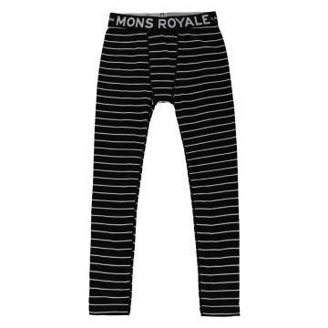 Mons Royale Boy's Groms Leggings - Thin Stripe