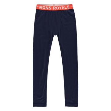 Mons Royale Boy's Groms Leggings - Navy