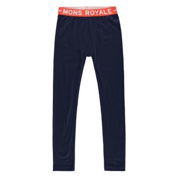 Mons Royale Boy's Groms Leggings - Navy