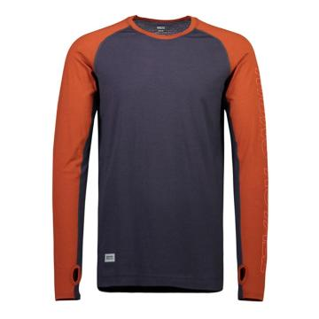 Mons Royale Mens Temple Tech Long Sleeve - Clay/Iron