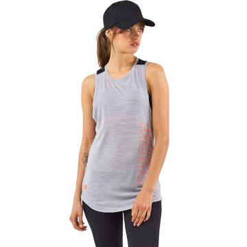 Mons Royale Women's MTN X Tank - Black/Grey Marl