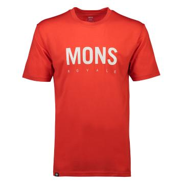 Mons Royale Men's ICON T-Shirt - Bright Red