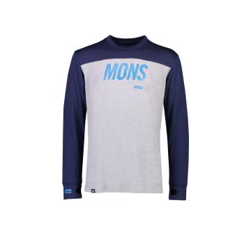 Mons Royale Men's Yotei Tech Long Sleeve - Navy/Grey marl