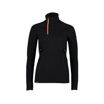 Mons Royale Women's Olympus 3.0 Half Zip - Black