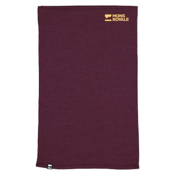 Mons Royale Unisex Double Up Neckwarmer - Wine