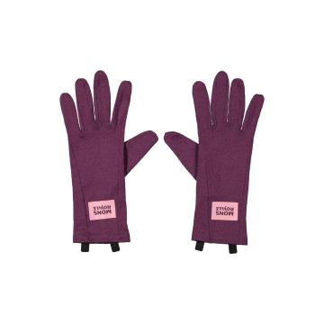 Mons Royale Unisex Cold Days Glove Liner - Blackberry