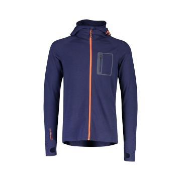 Mons Royale Men's Traverse Midi Full Zip Hood - Navy
