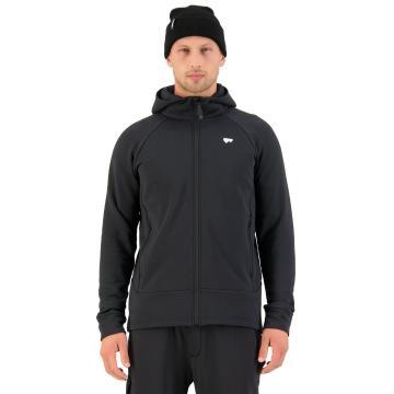 Mons Royale Men's Nevis Wool Fleece Hood - Black